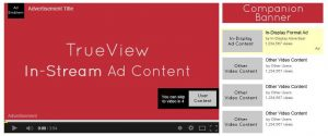 YouTube advertising with companion display banner ad