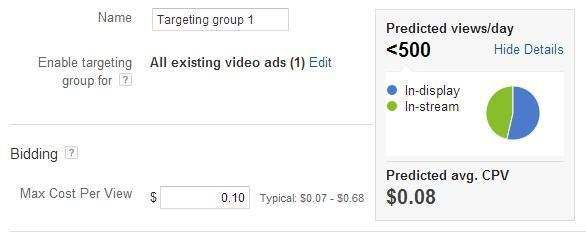 Setting up targeting groups in AdWords TrueView