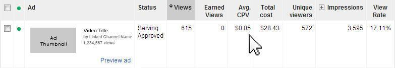 Example YouTube Advertising Results