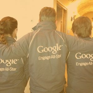 ad house advertising staff wearing google jackets