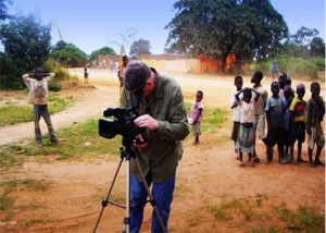 image sgowing team filming documentary in Africa