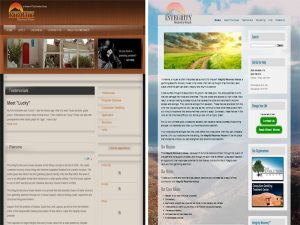 Image showing before and after of website