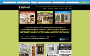 Southwest Windows website image