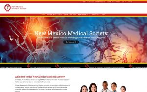 New Mexico Medical Society after website redesign image