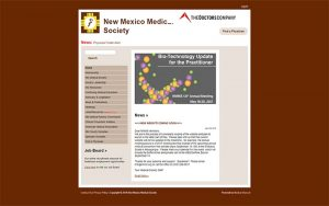 New Mexico Medical Society website before image